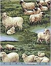 Sheep In The Meadow, Timeless Treasures