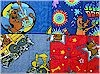 Scooby Doo, Set of 4 Fat quarters, Springs Global
