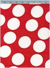 Red & White *Minnie* Dots, 55/56  Inches wide